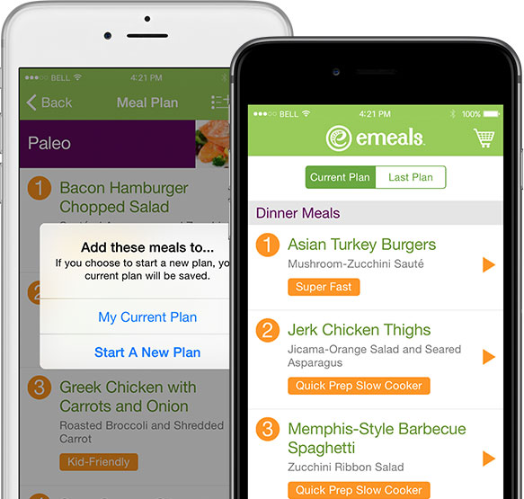 eMeals Weekly Plan