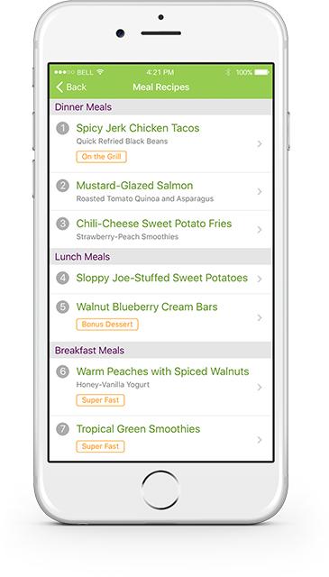 eMeals Custom App