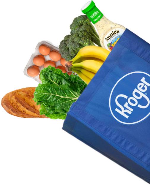 Kroger Food Bag Cutout