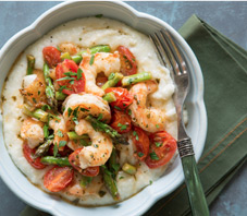 Lemon Garlic Shrimp Parmesan Grits