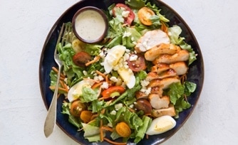 Grilled Buffalo Chicken Cobb Salad