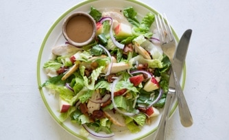 Crispy Chicken and Apple Romaine Salad
