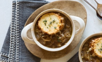 French Onion Soup with Gruyère Croutons