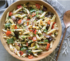 Grilled Summer Vegetables Penne Pasta