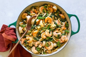 Lemony Shrimp and Broccoli Rabee